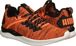 PUMA Men's Ignite Flash Evoknit Sneaker, Shocking Orange Bla
