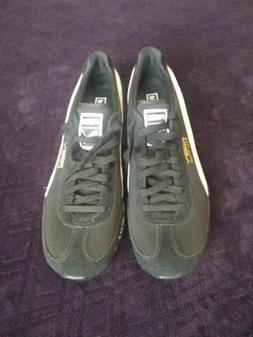 Puma Jamming Easy Rider black White Comfort Suede Shoes Mens