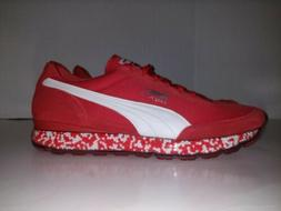 Puma Jamming Easy Rider Red White Comfort Suede Shoes  Mens