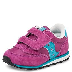 Saucony Girls Baby Jazz H and L Sneaker ,Magenta/Blue,7.5 M