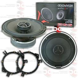 "2 pair Kenwood KFC-C1666S 6-1//2/"" Sport Series 2-Way Flush Mount Coaxial speakers"
