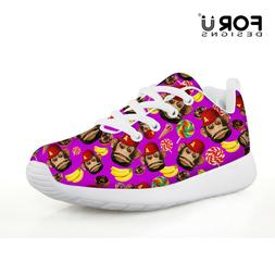Kid Running Shoes Animal Monkey Design Outdoor Mesh Sneakers
