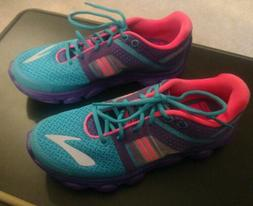 Kid's Running Shoes BROOKS PUREFLOW 4 PURPLE PINK TEAL Size