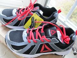 Reebok Kids Boys' Run Supreme 2.0 Running Shoe - Gray/Red/Bl