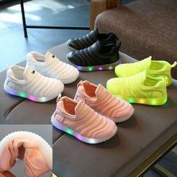 Kids Toddler Baby Boys Girls Sport Running Shoes LED Childre