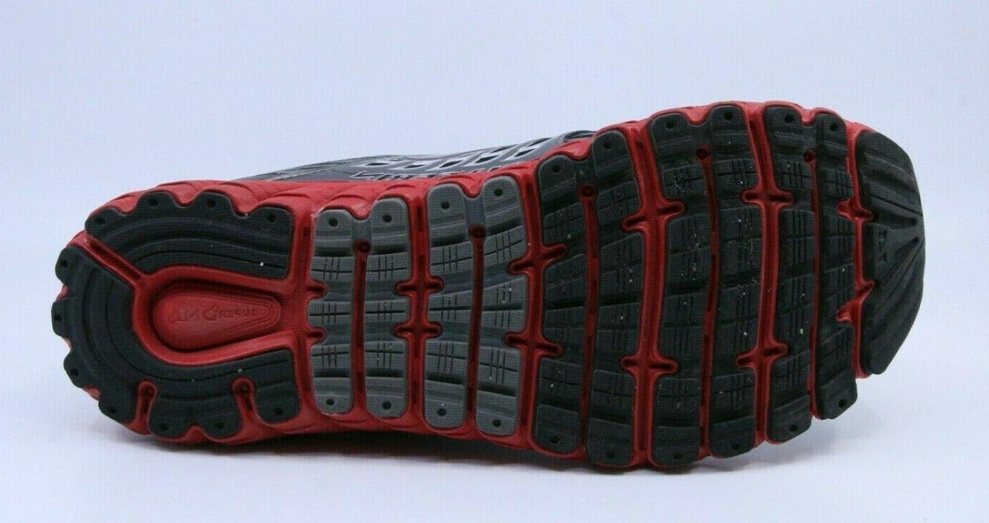 Brooks 1102362E-082 Men's Black/Red/Gray Glycerin Running Width 2E