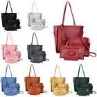 4Pcs/Set Women's Lady Leather Handbag Shoulder Tote Purse Sa