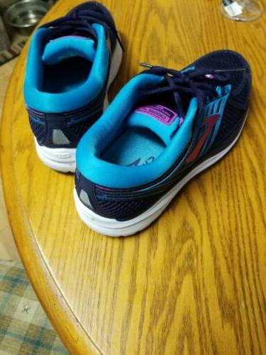 Brooks Addiction Shoes, Blue/Teal/Purple, medium