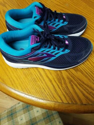 Brooks Addiction 13 Running Shoes, Blue/Teal/Purple