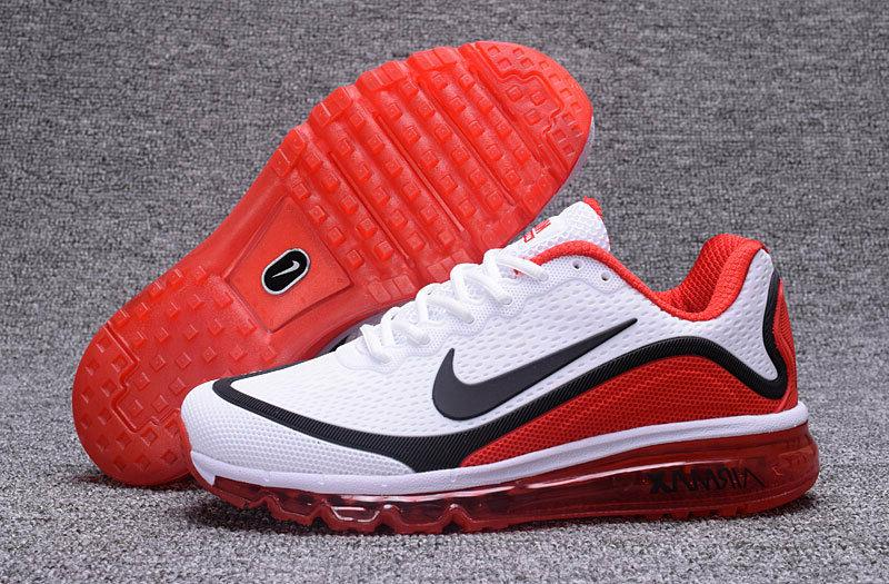 NIKE AIR MAX Men's Trainers Shoes White/Red in Size 8-13