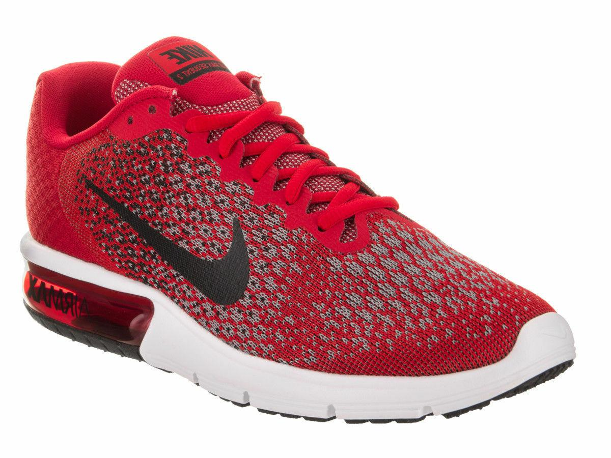 Nike Air Max Sequent 2 Running Shoes Sz-8-15 University Red