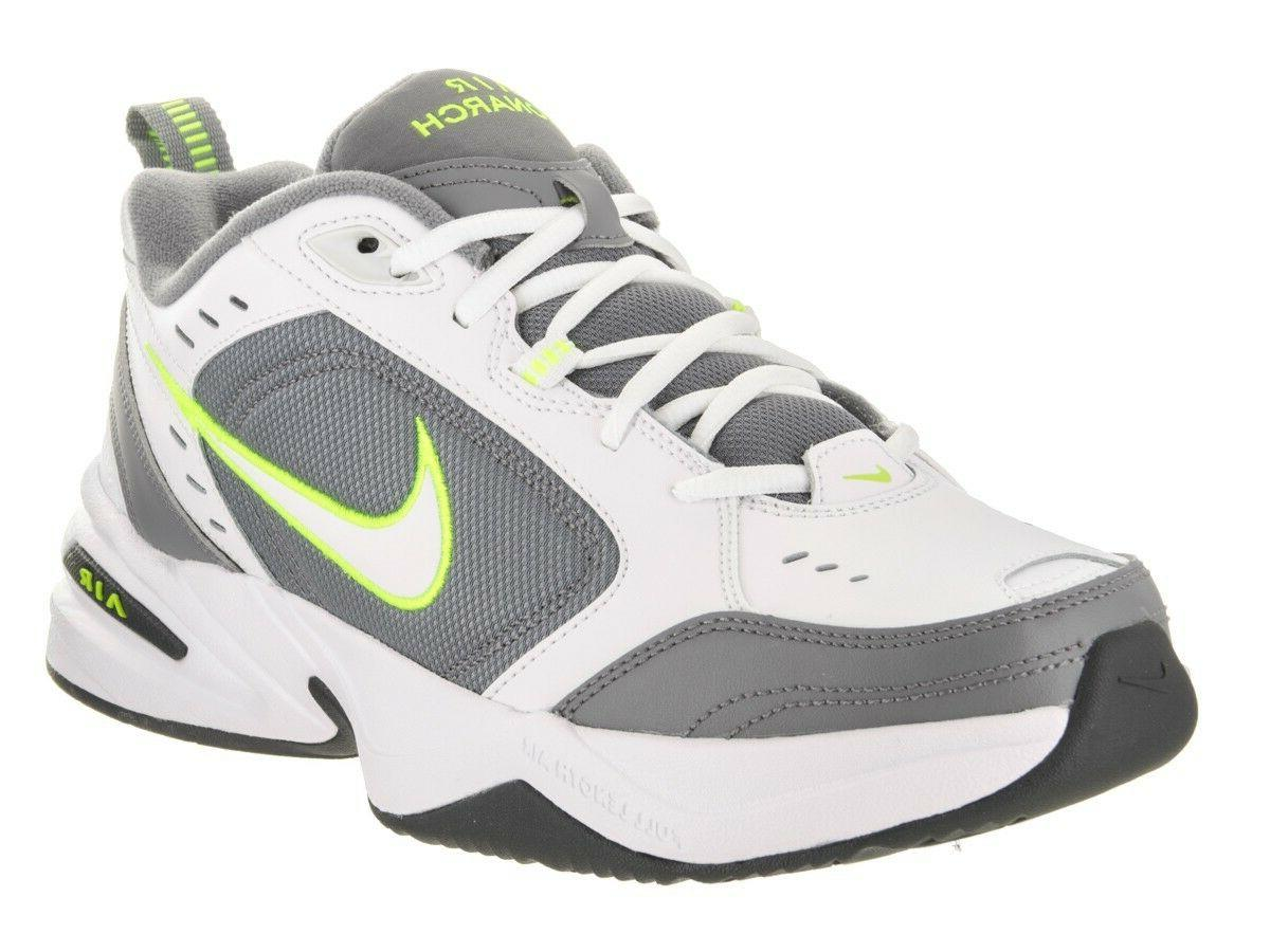 Nike AIR MONARCH IV Mens White Grey Volt 100 Lace Up Running