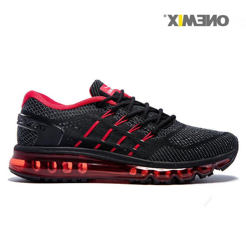 ONEMIX Men's Sport Sneakers Outdoor Athletic Black Jogging R