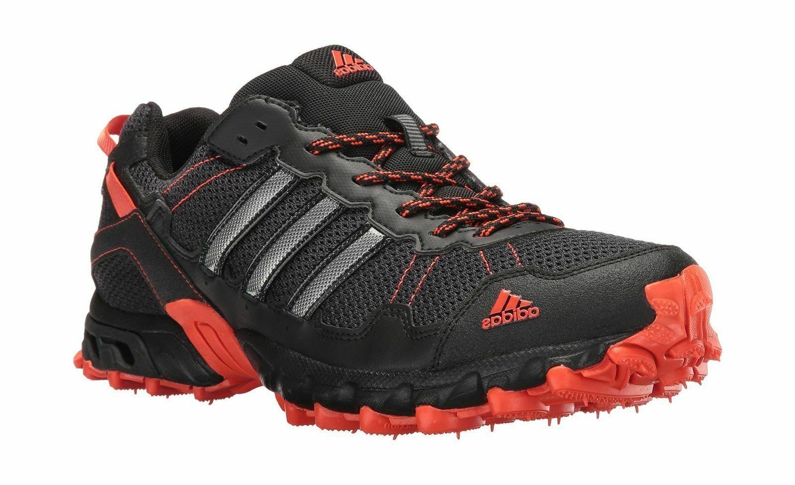 Adidas BY1790 Men's Rockadia Trail Running Shoe Black/Black/Energy