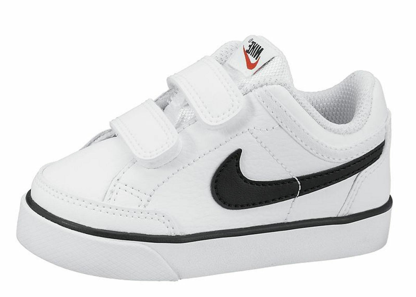 Nike Capri 3 Leather Boys Girls Toddler Baby Shoes White Bla