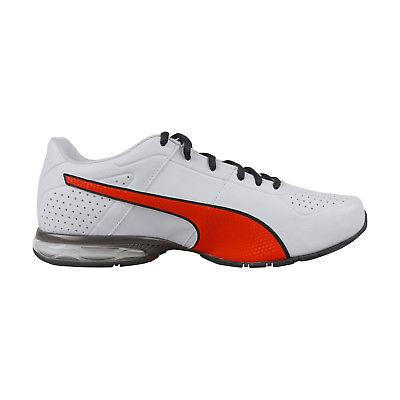Puma Cell Surin2 Mens White Leather Lace Shoes