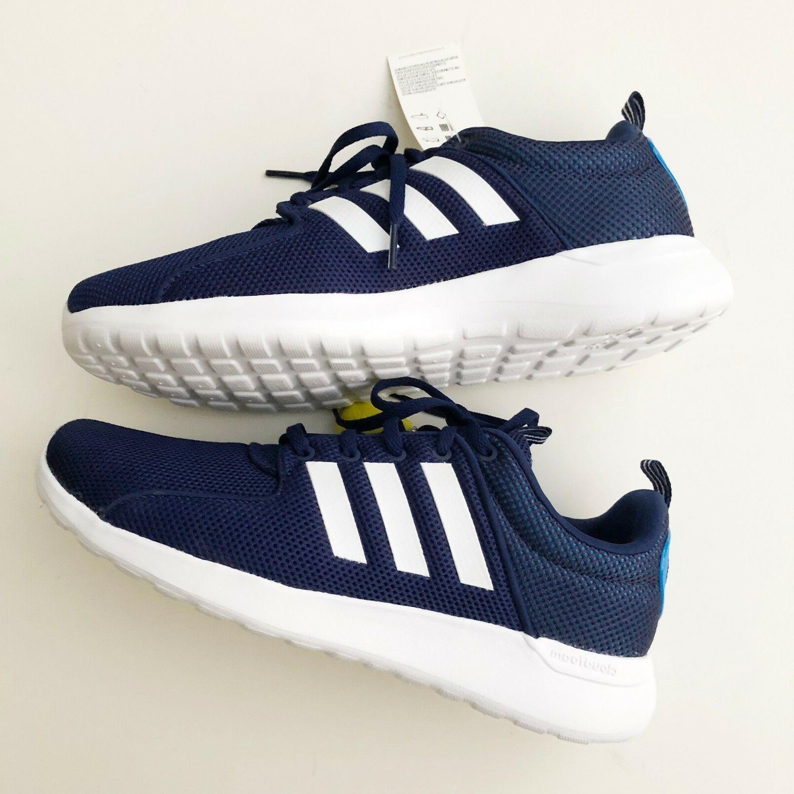 Adidas CF Lite Racer Mens Training Running Shoes Blue White