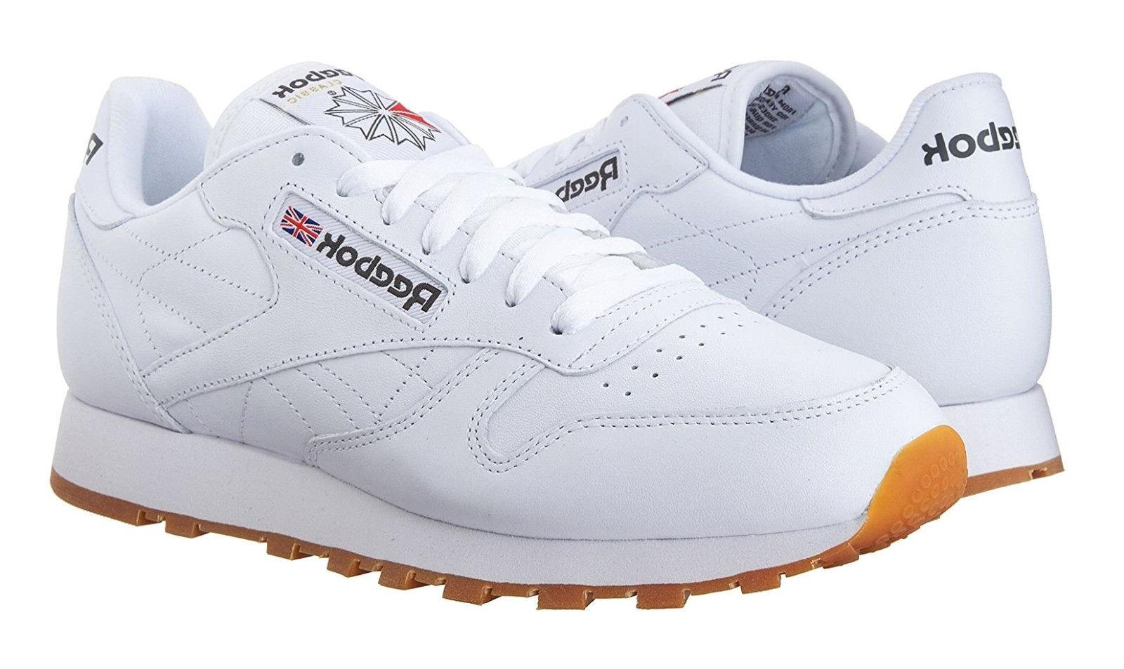 Reebok Classic Leather Gum Mens Running Shoes