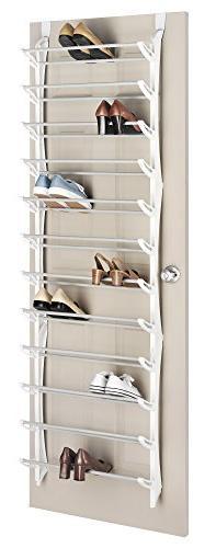 Whitmor Display Rack - Door-mountable - Resin, Steel - White