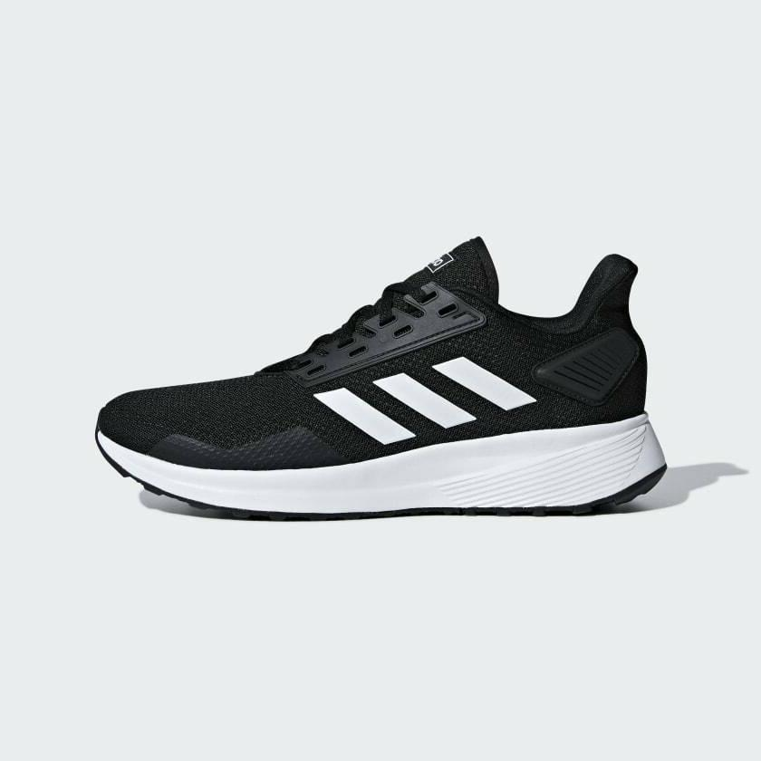 duramo 9 mens running shoes black white