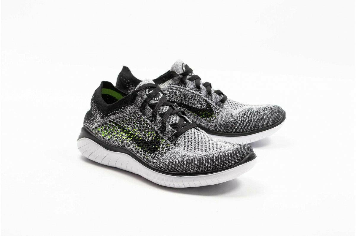 Nike Free RN Flyknit 2018 White OREO 942838 101