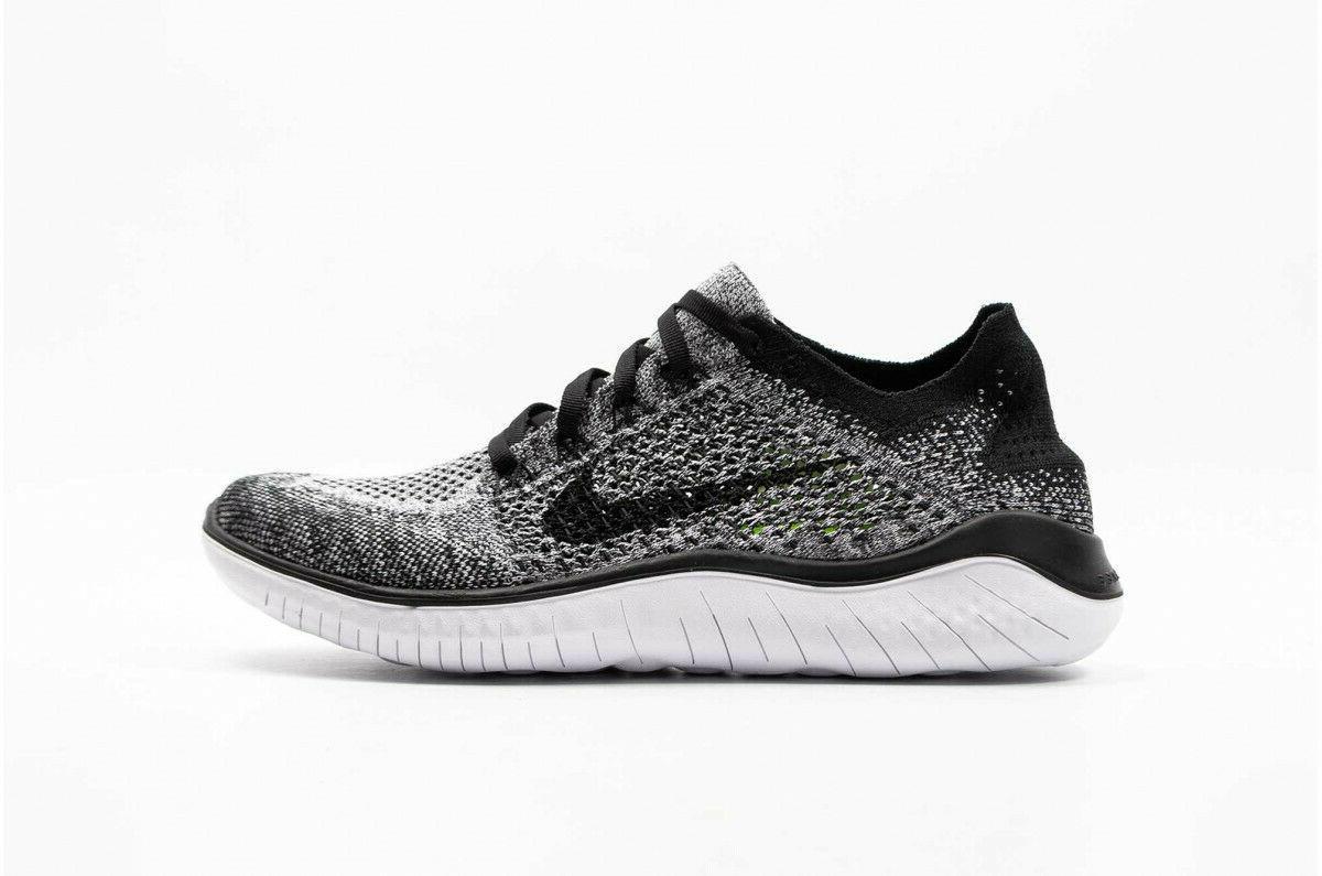 Nike Free 2018 Mens Running White OREO 101 7-8