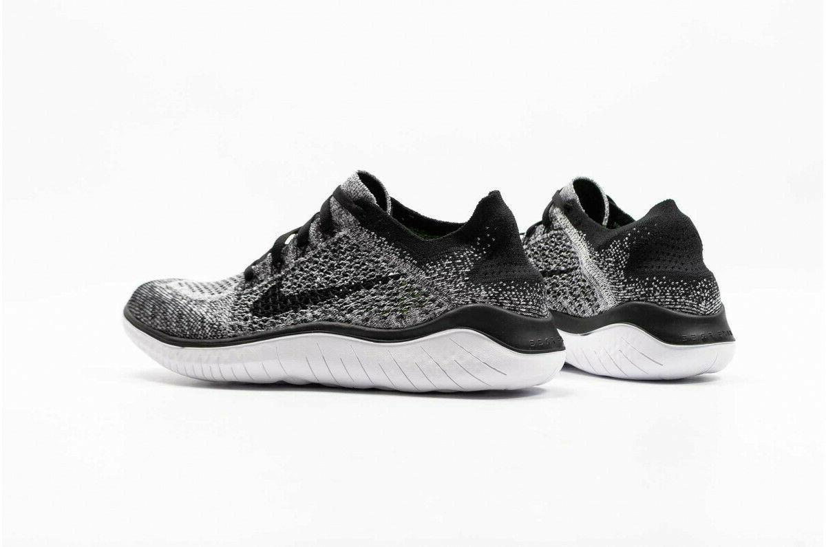 Nike Free 2018 Mens White Black OREO 942838 101 Sz