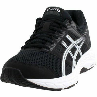 gel contend 5 running shoes black mens