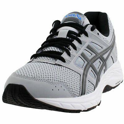 gel contend 5 running shoes grey mens
