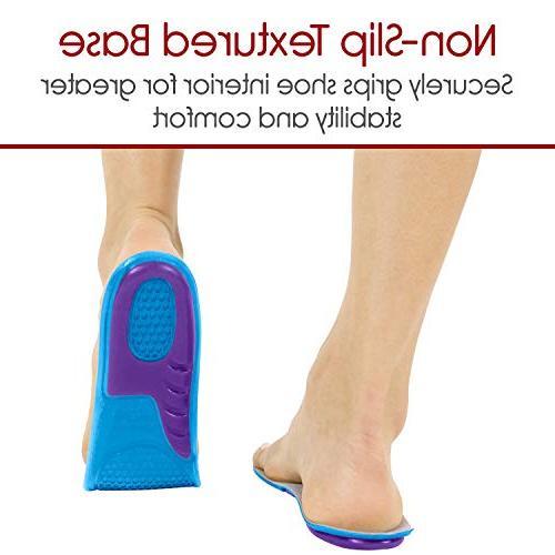 Gel Insoles Envelop - Shoe Inserts Running, More - Best Insoles Men Lets Gel Insoles Shock