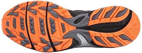 ASICS Carbon/Black/Hot Orange, 10.5 M US