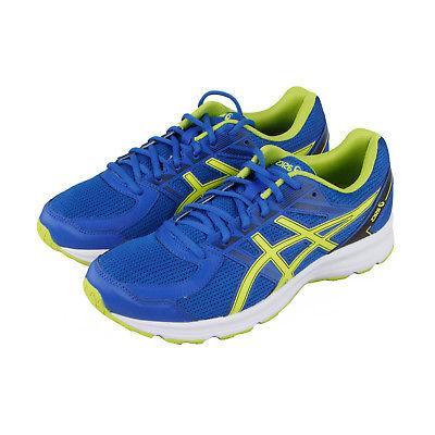 Asics Jolt Mens Blue Textile Athletic Lace Up Running Shoes