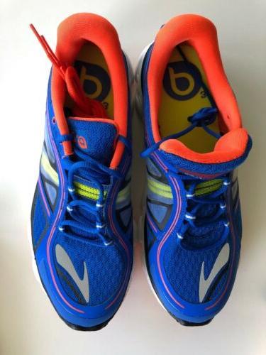 kids boys pureflow running shoes blue orange