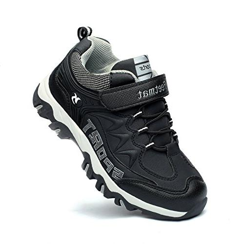 boys sneaker waterproof kids hiking shoes black