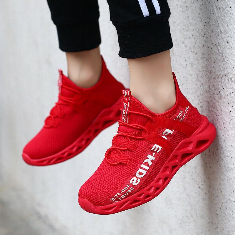 kids sneakers boys girls running shoes lightweight