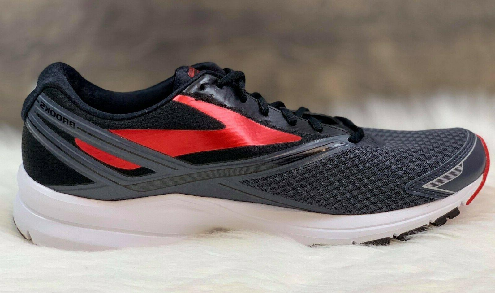 Brooks 4 Running Shoes Grey/Black/Red Size