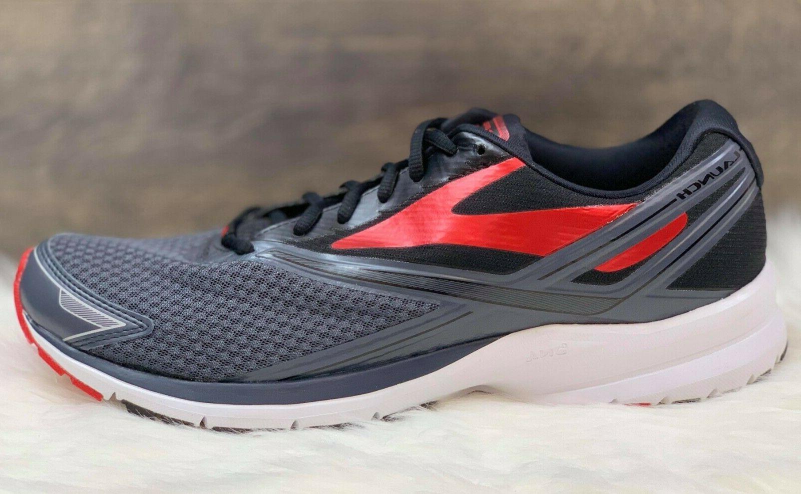 Brooks Men's 4 Running Shoes Grey/Black/Red Size 12