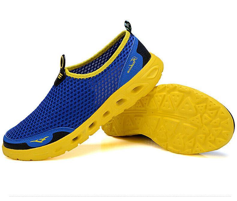 Men's Mesh Shoes Quick-Dry Slip-on Pool Swim Running