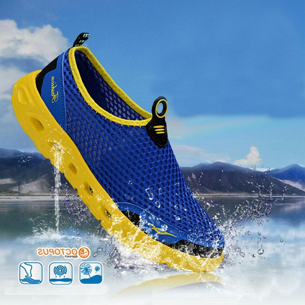 men s mesh aqua water shoes quick