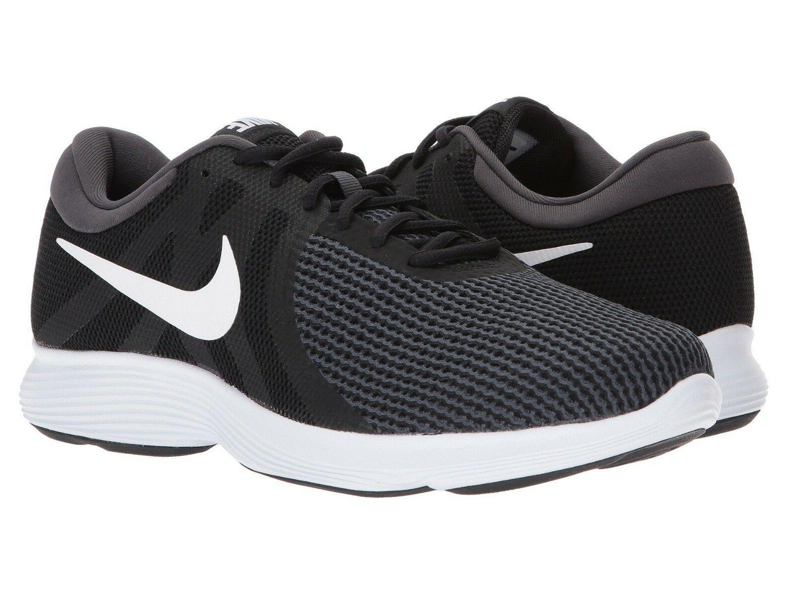 Nike Men's 4 Running 908988 Black White