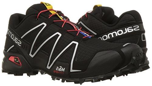 Salomon Men's Speedcross Trail Running Shoe,Black/Black/Silver M
