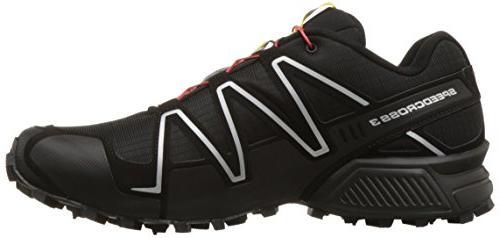 Salomon Trail Shoe,Black/Black/Silver M US