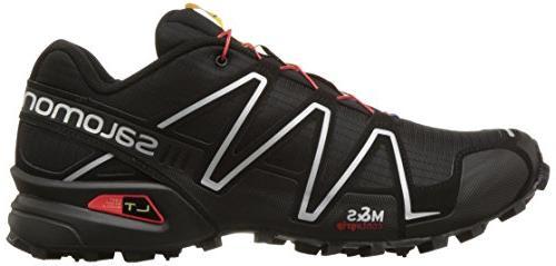 Salomon Speedcross Trail Shoe,Black/Black/Silver