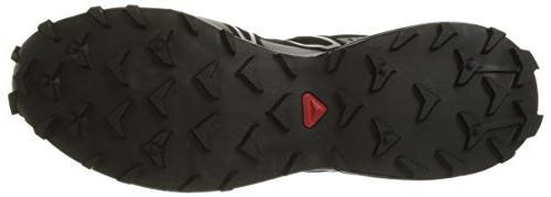 Salomon Men's Trail Shoe,Black/Black/Silver M