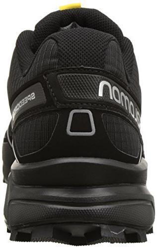 Salomon Men's Speedcross Trail Running Shoe,Black/Black/Silver Metallic-X,8.5