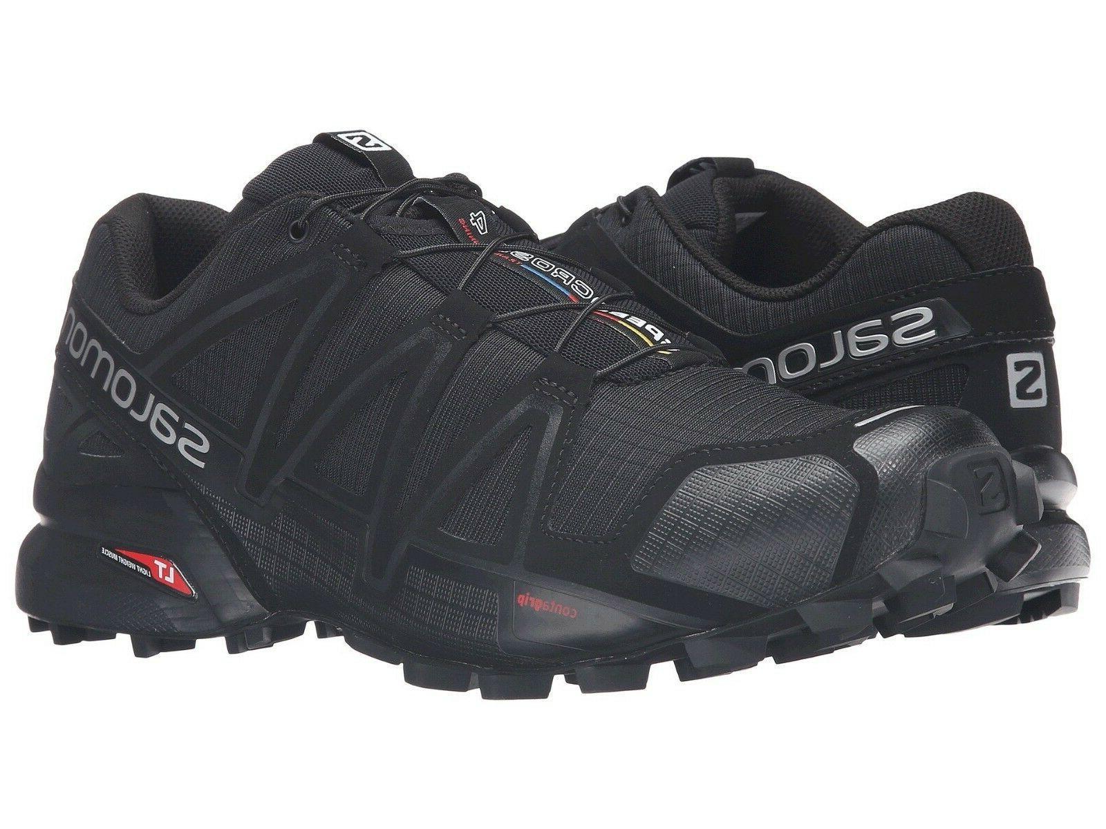 Men's Salomon Speedcross 4 Trail Running Shoes Black