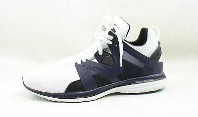 mens ascend white running shoes size 11