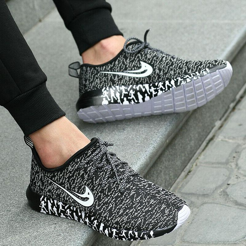 Mens Breathable Ultra Light Up Casual Sneakers