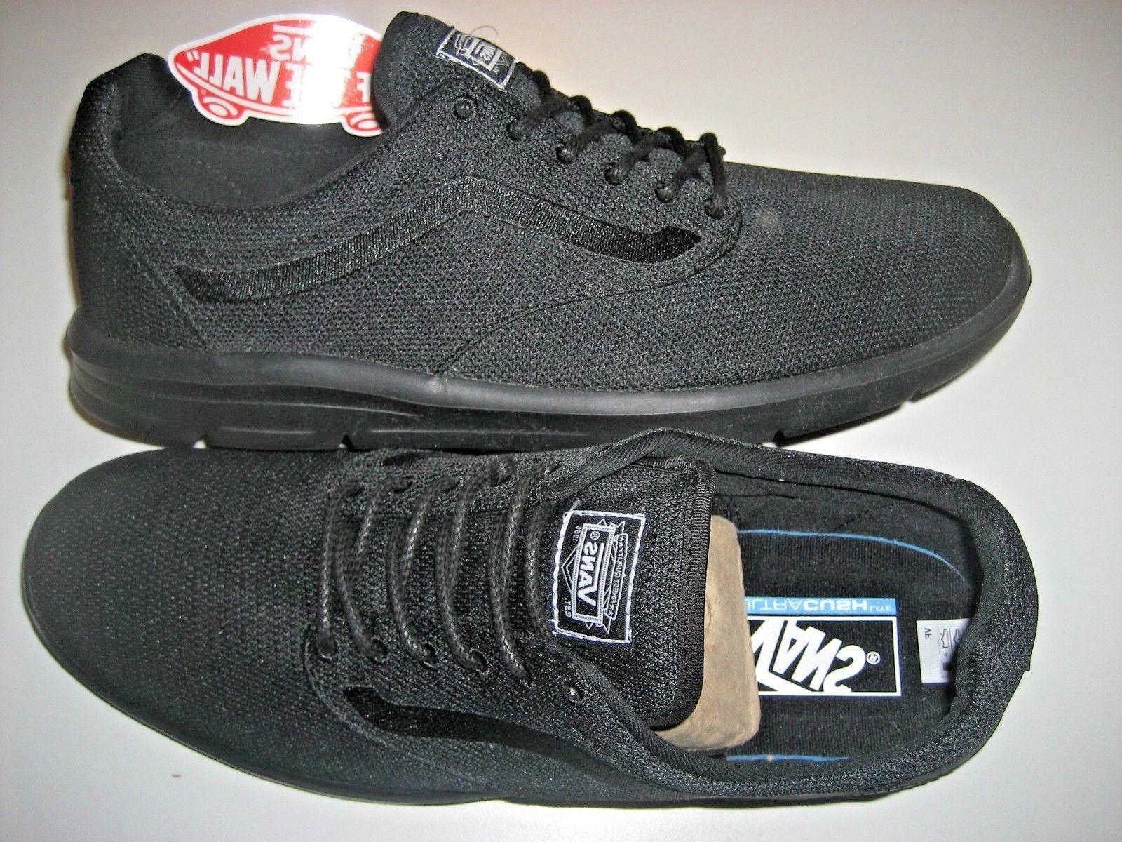 Vans Mens Iso 1.5 Mono Black Running Skate Athletic Shoes Si
