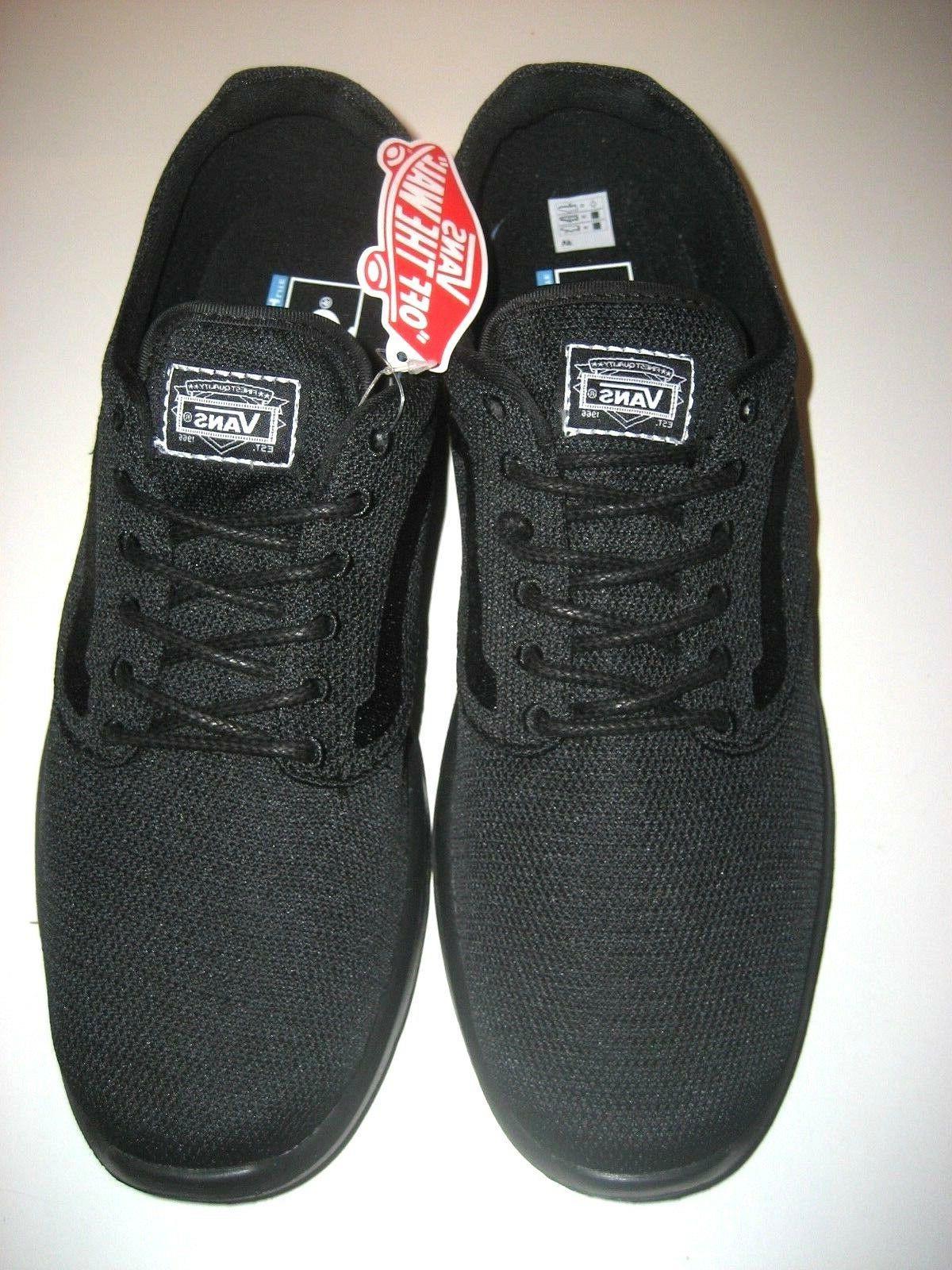 Vans Mens Iso Mono Black Running Skate Athletic Size Ultra Cush